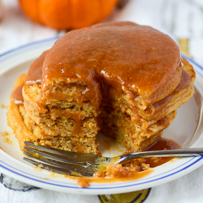 pumpkin protein pancakes by amanda r dewitt