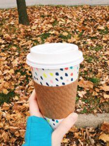 latte cup in the fall via amandaRdewitt.com