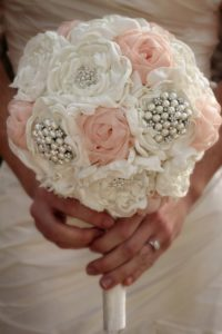 silk flowers wedding bouquet