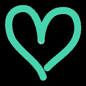 teal heart for amandardewitt.com