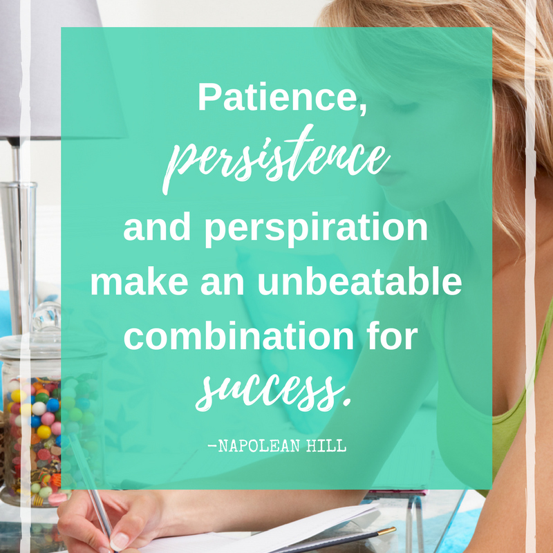 patience, persistence and perspiration quote