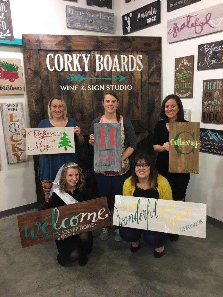 dewitt knapp wedding bachelorette at corky boards