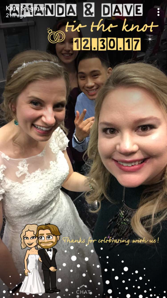 getting married having a snapchat filter